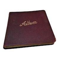 Fantastic Edwardian Era English Autograph Album with many drawings