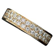 CLEARANCE! Dazzling 18kt Gold 1.01ct Diamond Wedding Band