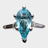 Beaming 1.05ct Copper-Bearing PARAIBA Tourmaline and Diamond Ring
