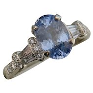 MEMORIAL DAY SALE - SAVE $750! Magnificent Oval 2.62ct Blue Sapphire & Diamond Ring
