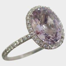 STUNNING 3.10ct Pastel Spinel Diamond Engagement Ring