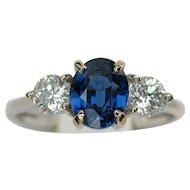 MEMORIAL DAY SALE - SAVE $1300! Brilliant NO HEAT 'Cornflower Blue' Sapphire Diamond Ring