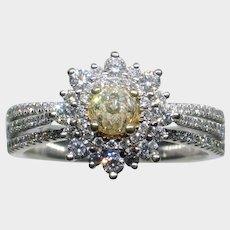 "Fascinating ""Crown of Light"" Fancy Yellow Diamond Ring"