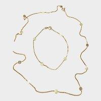 CYBER WEEK SALE! 50% Off! Superb & Unique Vintage 10k Gold Neckchain & Wrist/Ankle Bracelet