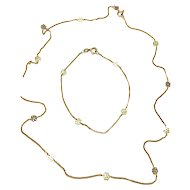 Superb & Unique Vintage 10k Gold Neckchain & Wrist/Ankle Bracelet