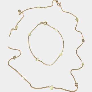 Superb & Unique Vintage 10k Gold Neckchain & Wrist/Ankle Bracelet