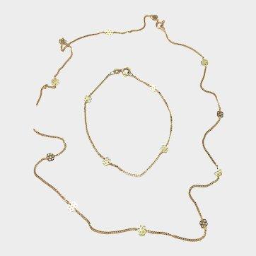 VALENTINE SALE: 50% Off! Superb & Unique Vintage 10k Gold Neckchain & Wrist/Ankle Bracelet