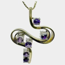 April 9-14 only.Outstanding 10.8 grams 14k Amethyst Swirl Pendant- FREE SHIPPING in CANADA and USA