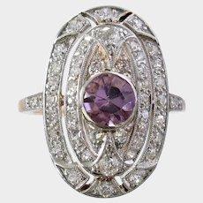 Antique Edwardian Belle Époque Amethyst & Diamond Ring