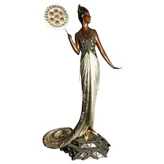 FEDORA Bronze by ERTE-#81 of 500. Signed Erte, Seven Arts 1989