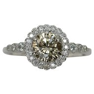 MEMORIAL DAY SALE - SAVE $195! Refined 0.91ctw Fancy Diamond Engagement Ring