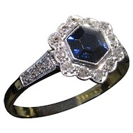 SALE! Save $600 now on this Whimsical 18kt EDWARDIAN c.1910 Sapphire & Diamond Ring