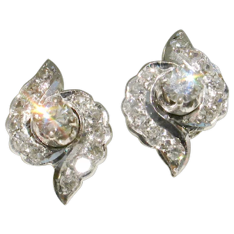 48 HOUR NEW LISTING SPECIAL! Versatile 14k White Gold Diamond Studs-Wear them 2 ways!