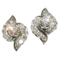 MAKE an OFFER on these Versatile 14k White Gold Diamond Studs-Wear them 2 ways!