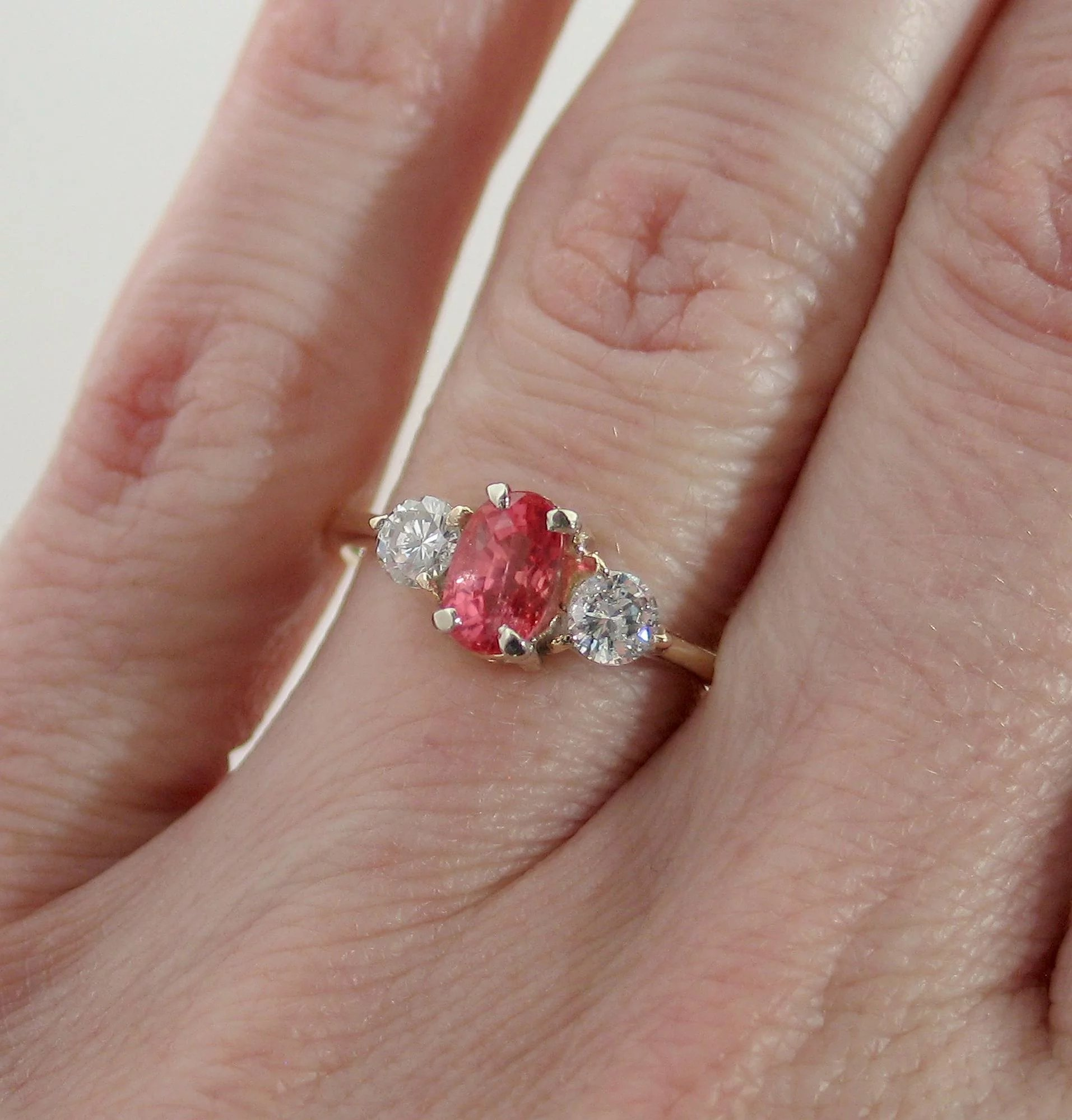 of pad lane ruby time carat strands the size yg ring lab padparadscha item sapphire
