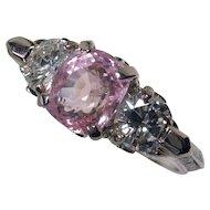 Dreamy Unheated Pastel Pink Sapphire & Diamond Ring