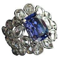 MEMORIAL DAY SALE - SAVE $1250! Spectacular 8.39ctw Vintage Tanzanite & Rose Cut Diamond Cocktail Ring