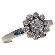 MEMORIAL DAY SALE - SAVE $495! Tiffany & Co. 950 Platinum Diamond Flower Ring
