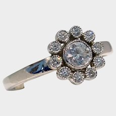 Tiffany & Co. 950 Platinum Diamond Flower Ring