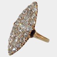 Dreamy Antique Victorian Diamond Navette Ring
