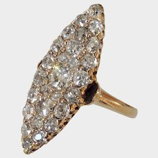 Dreamy 1.50ct Antique Victorian Diamond Navette Ring