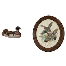 A Set of Picture of Mallard Ducks and a figure of two ducks.