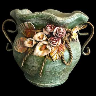 Decorative Pottery with Pompas grass