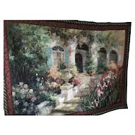 Wall Hanging of a gorgeous picture of an Italian Villa