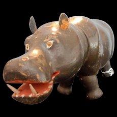 Schoenhut Humpty Dumpty Circus or Teddy Roosevelt Safari HIPPO with Painted Eyes