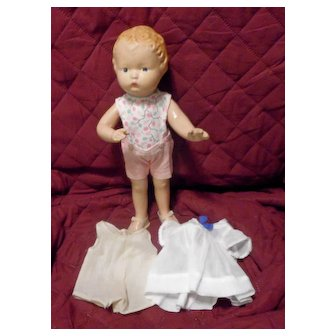 Rare Schoenhut Composition Doll with Patsy type body from 1930's