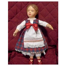 Sweet 14 inch Schoenhut doll # 102 Carved Hair Girl