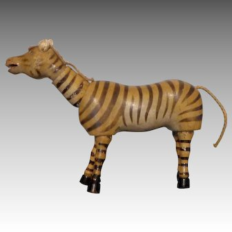 Schoenhut Teddy Roosevelt African Safari Zebra with Glass Eyes