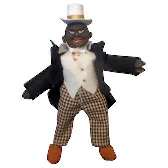 Schoenhut Black Dude with a Black Coat