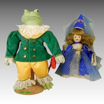 """Brigitte Deval"" Artist Doll Set - ""The Princess and the Frog"""