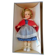 """Mint In Box 1961 Shirley Temple Dressed As Red Riding Hood, 14"""" Tall"""
