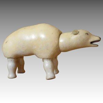 Schoenhut  Humpty Dumpty Circus Polar Bear with Painted Eyes