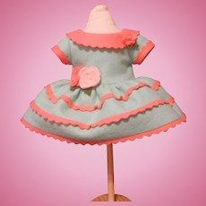Reproduction Lenci Dress for an 18 inch Felt Or Cloth Doll by Diane Lemieux