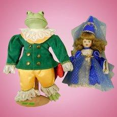 """ Brigitte Deval"" Artist Doll Set - ""The Princess and the Frog"" for the Ashton Drake Galleries"