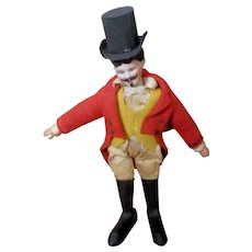 Schoenhut Humpty Dumpty Circus Ringmaster with Bisque Head and Red Coat