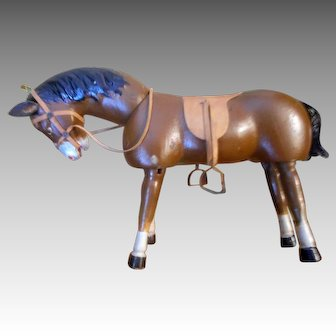 Schoenhut Teddy Roosevelt African Safari Brown Horse with Painted Eyes