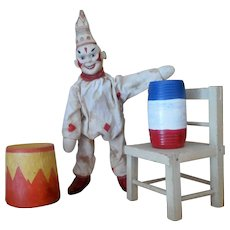 Schoenhut Humpty Dumpty Circus Clown and Accessory set ONE