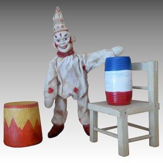 Schoenhut Humpty Dumpty Circus Clown and Accessory set ONE