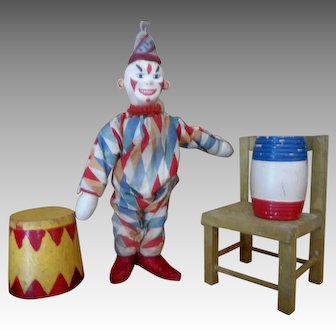 Schoenhut Humpty Dumpty Circus Clown and Accessory set TWO