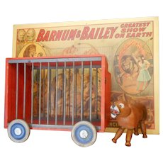 Schoenhut Twelve Inch Wild Animal Cage Wagon