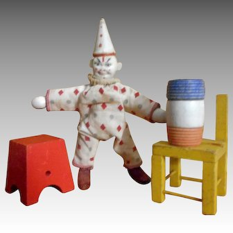 Schoenhut Reduced Size Humpty Dumpty Circus Clown and Accessories