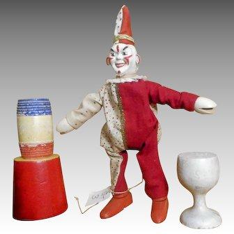 Schoenhut Humpty Dumpty Circus Clown and Accessory set THREE