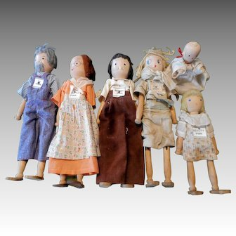 1936 Schoenhut Pinn Family Dolls  (Family One)