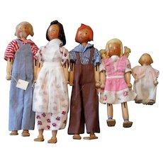 Schoenhut Pinn Family Dolls (Family Three)