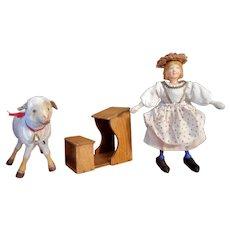Schoenhut Mary and Her Lamb Set
