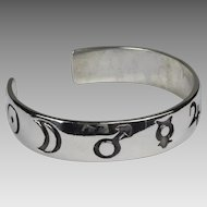 Sterling Mignon Faget Orb Symbols Cuff Bracelet
